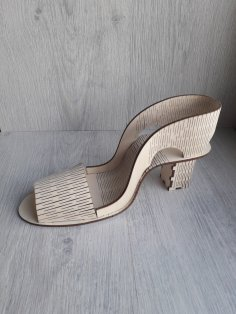 Laser Cut Shoe Template Free Vector