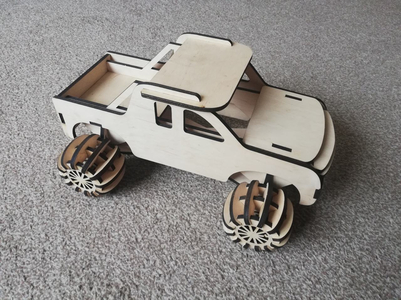 Laser Cut Kids Truck Free Vector