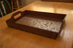 Laser Cut Plywood Serving Tray DXF File