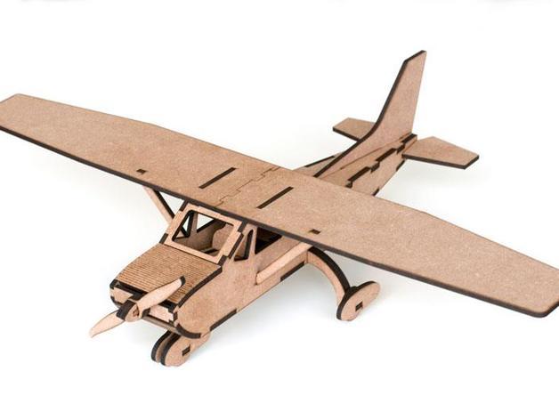 Laser Cut Cessna Airplane Template PDF File