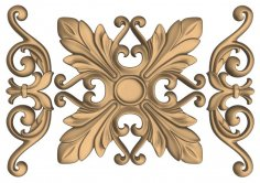 Decorative  Flower Carved Design for CNC Router Stl File