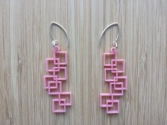 Laser Cut Earrings Design Template DXF File