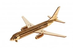 Laser Cut Irkut MS21 Airliner Template Free Vector