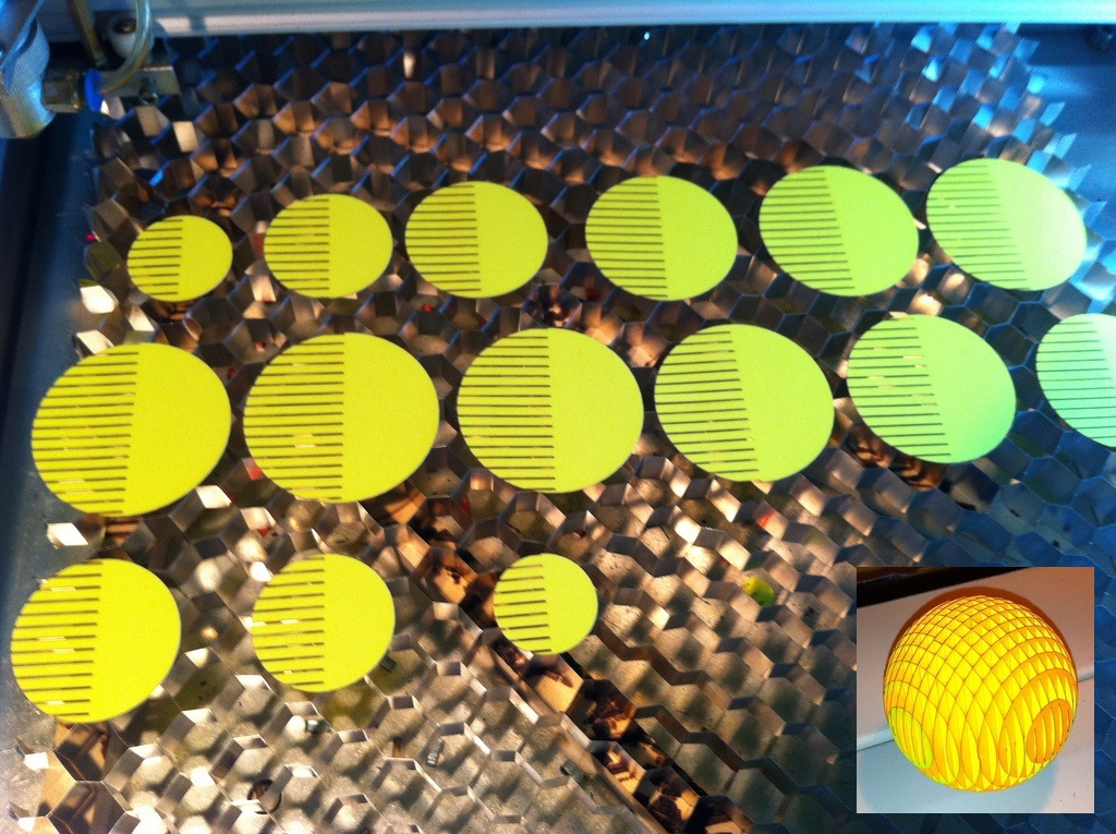 Laser Cut Sliceform Christmas Ball Ornament Free Vector