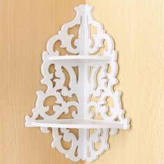 Laser Cut Corner Shelf Free Vector