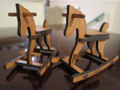 Laser Cutting Rocking Horse DXF File