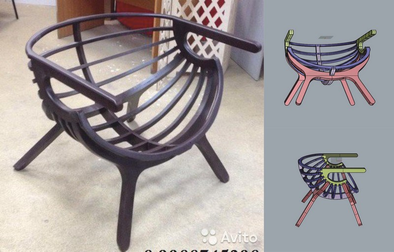 Windsor Chair CNC Router Laser Cut Plans Free Vector