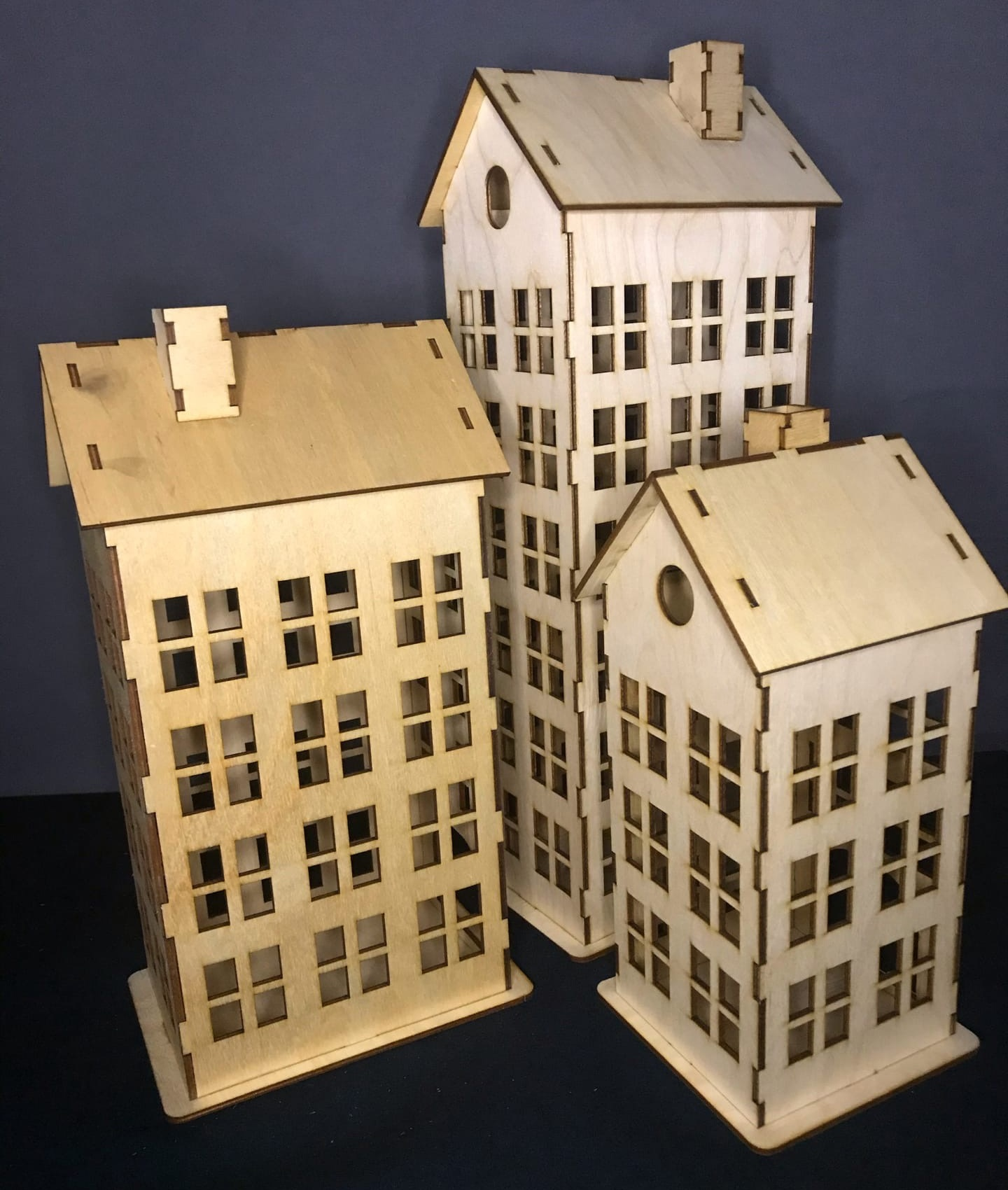 Laser Cut Retro Building Town Or City Vintage House Free Vector