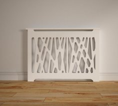 Laser Cut Decorative Radiator Cover Grille Free Vector