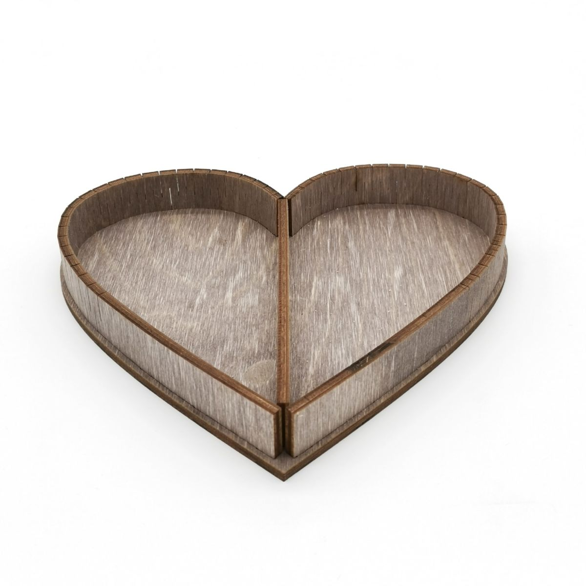 Laser Cut Heart Shaped Wood Tray Free Vector