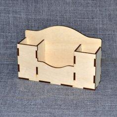 Laser Cut Simple Desk Organizer Free Vector