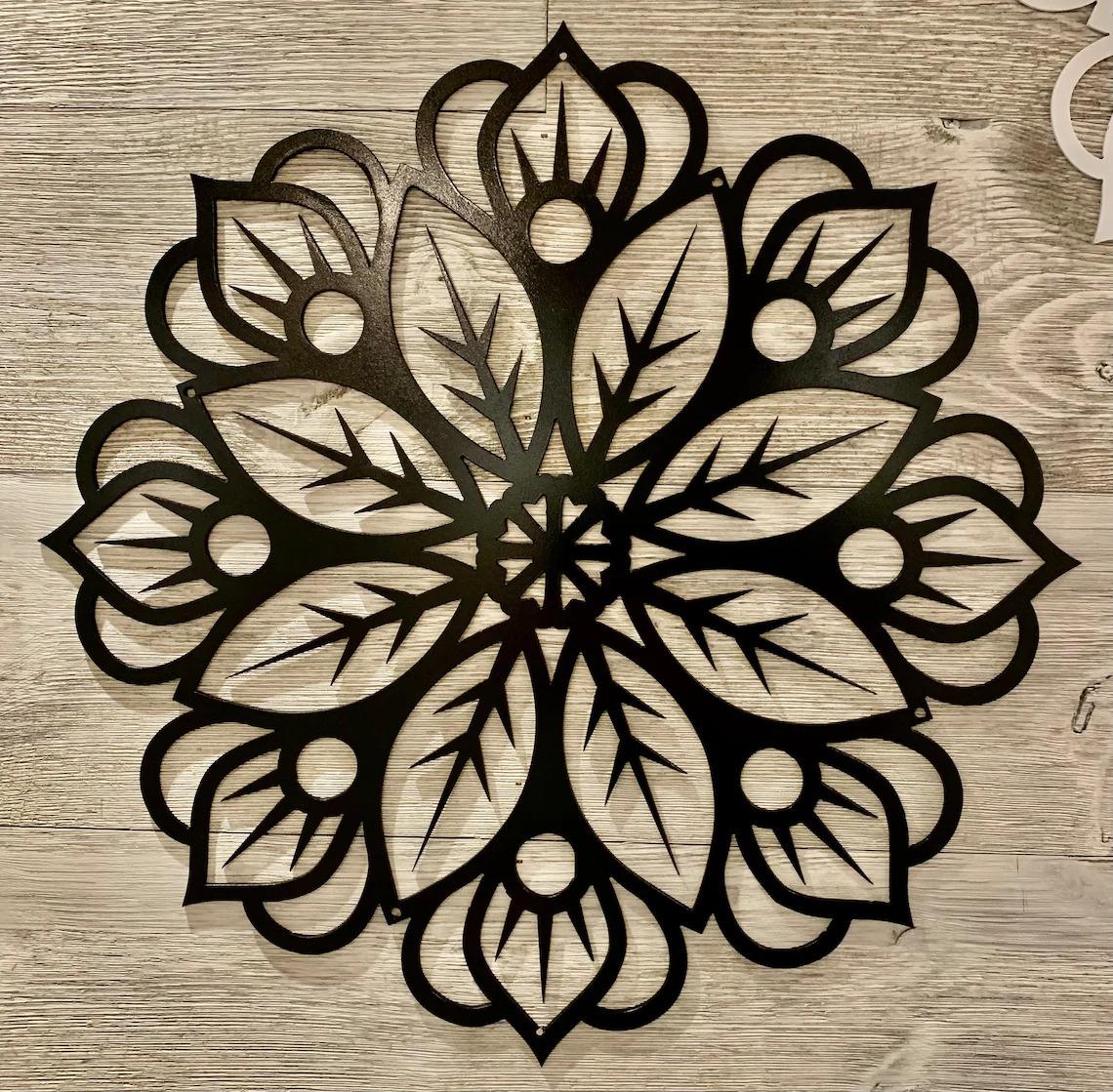 Laser Cut Floral Mandala Wall Art SVG File
