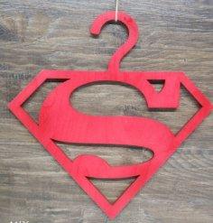 Laser Cut Superman Clothing Hanger Free Vector