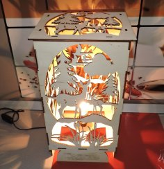 Laser Cut Bambi Forest Night Light DXF File