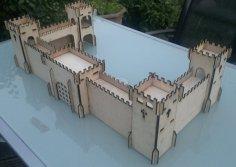 Laser Cut Castle 3mm Plywood DXF File