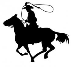 Cowboy Silhouette dxf file