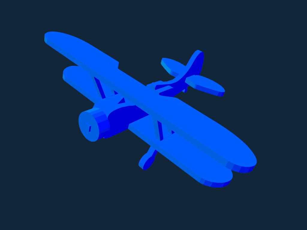 Waco UPF-7 Biplane stl file