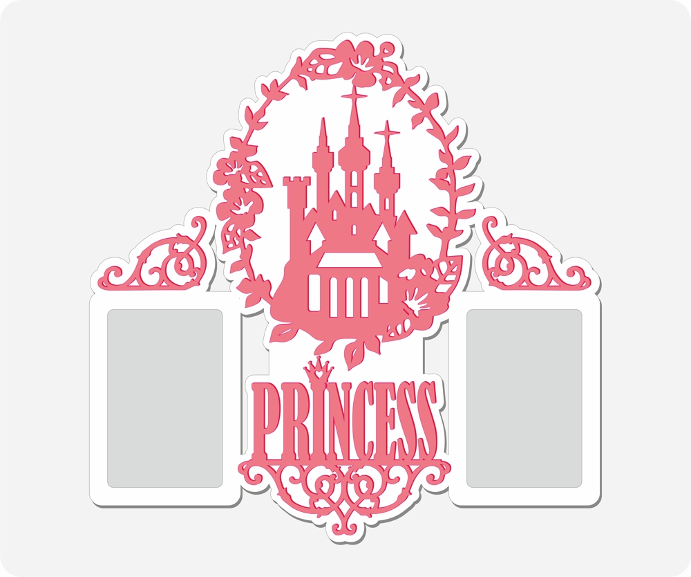 Laser Cut Princess Photo Frame Free Vector