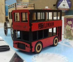 London Bus Laser Cut