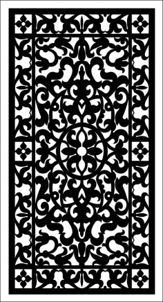 Floral Screen Pattern SVG File