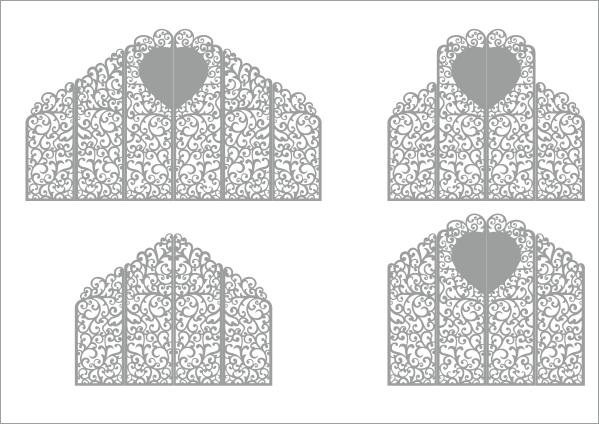 Laser Cut Wedding Screen Pattern Free Vector
