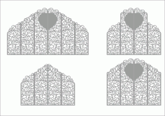 Laser Cut Wedding Screen Pattern Free Vector