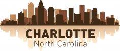 Charlotte Skyline Free Vector