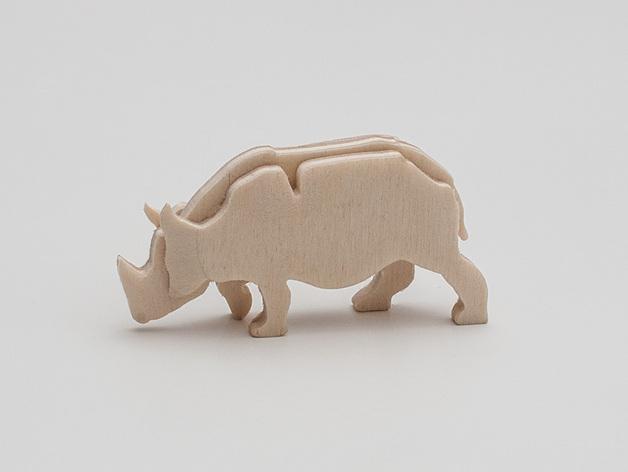 Laser Cutting Rhinoceros PDF File