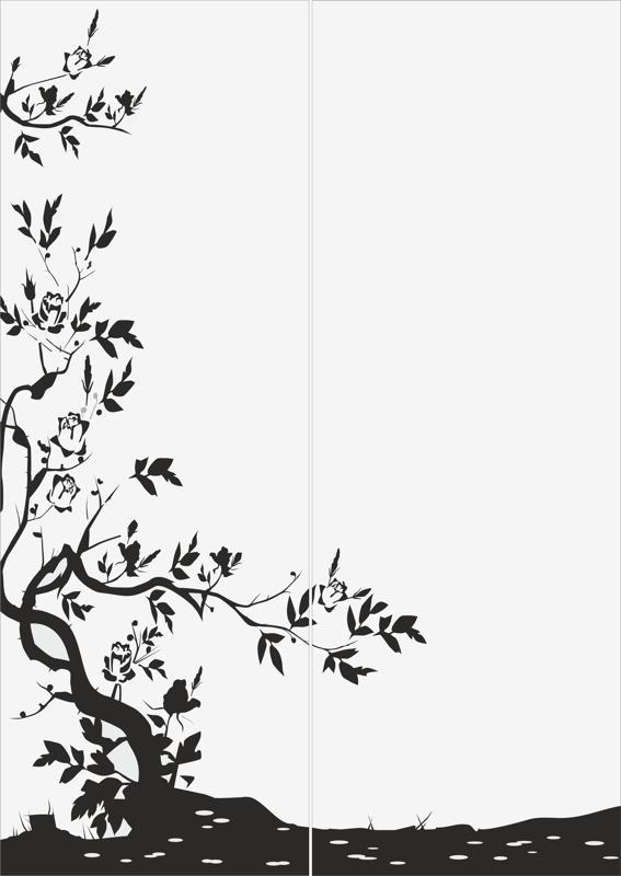 Abstract Tree Sandblast Pattern Free Vector