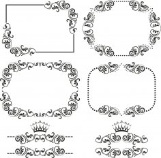 Ornament Border Set Free Vector