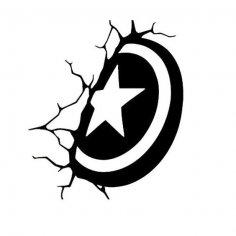 Captain America Shield Wall Decal Avenger Sticker dxf File