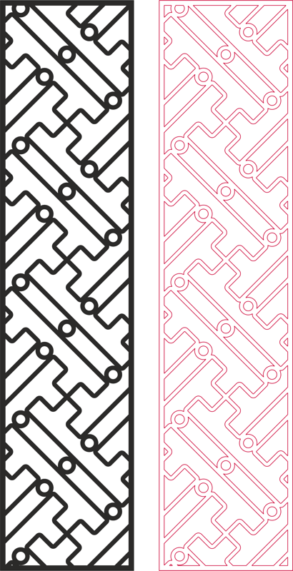 Partition Design pattern for laser cut wood dxf File