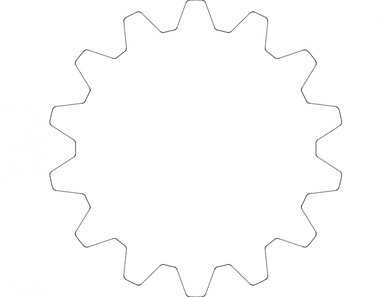 z14 шестерня dxf File