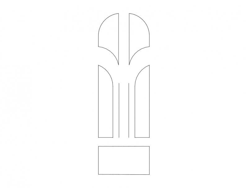 Mdf Door Design 17 dxf File