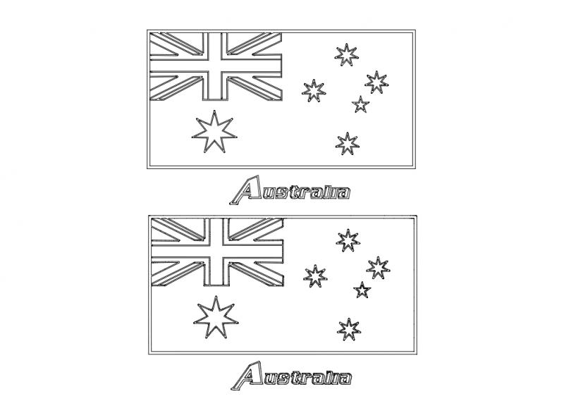 Flag Of Australia dxf File