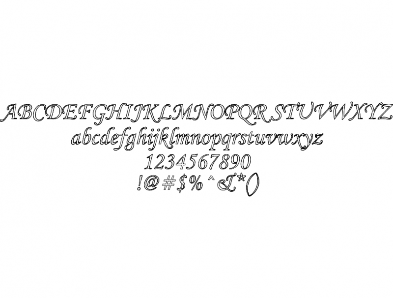 corsva-text dxf File