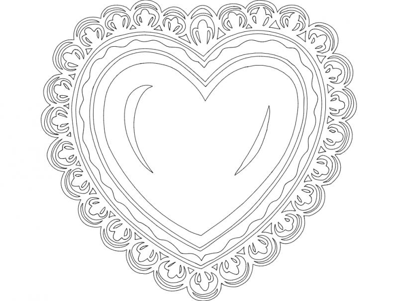 Festive Things Heart dxf File