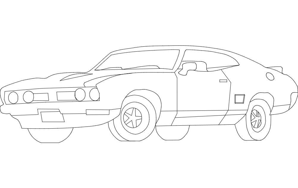 Car trace dxf File