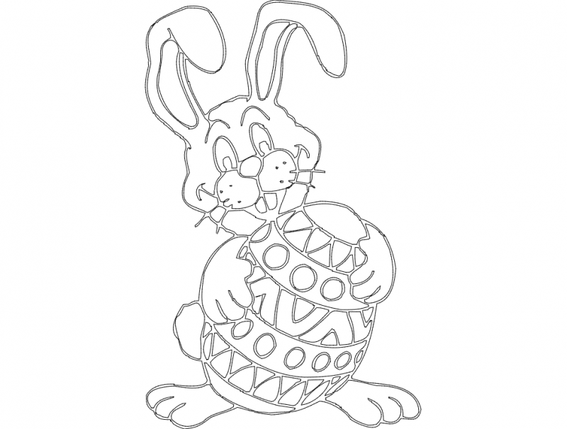 Osterhase (rabbit) dxf File