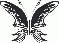 Tribal Butterfly Vector Art 22 DXF File