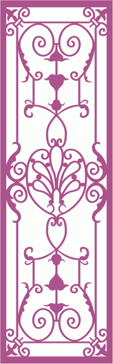 Wrought Iron Grille Pattern Free Vector