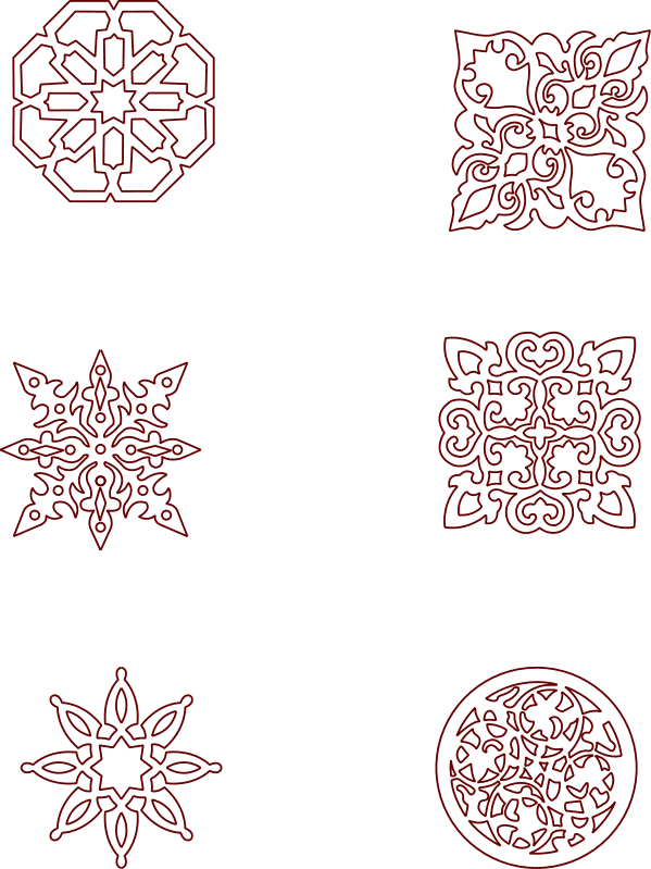 Moroccan seamless patterns DXF File