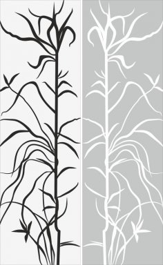 Tree And Leaf Abstract Pattern Sandblast Pattern Free Vector