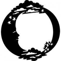 Moon Stars dxf File