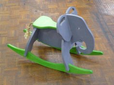 Toy Elephant Rocker dxf File