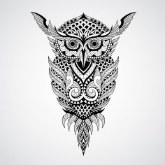 Geometrical owl vector art CDR File