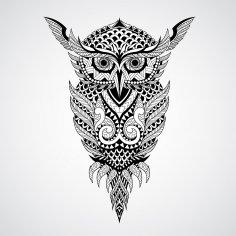 Geometrical owl vector art Free Vector
