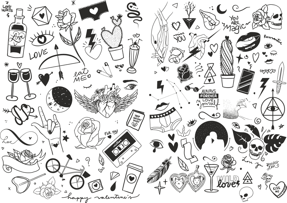 Valentines Icons Vector Pack Free Vector