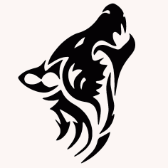 Wolf Tribal Animal Tattoo CDR File
