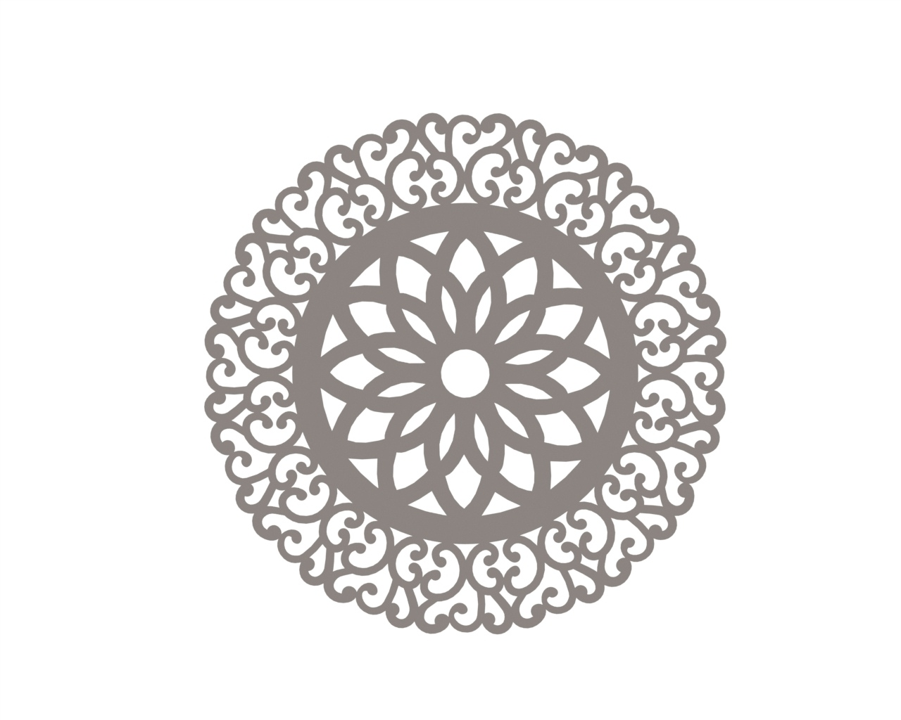 Vector indian Mandala DXF File